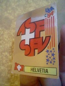 HELVETIA SUIZA FOOTBALL  PANINI USA WORLDCUP 94 1994 SILVER EDITION
