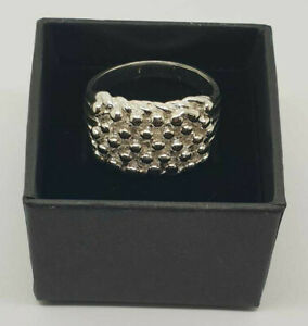 Sterling Silver 5 Row Keeper Ring Size P-Z  *HALLMARKED* *FREE DELIVERY*