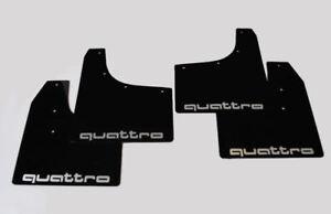 rallyflapZ Audi TT Bespoke Mud Flaps Mudflaps Black Quattro Silver 4mm PVC