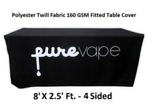 8ft. Custom Printed Fitted Table Cover 4 Sided Table Cloth for Tradeshow Expos