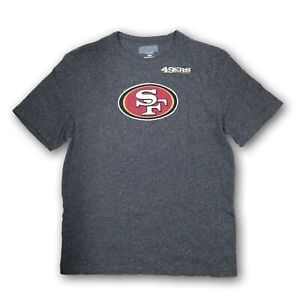 San Francisco 49ers Men's Majestic NFL Heather Gray Short Sleeve