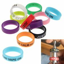 Vape Bands Protect Mods RBA RTA RDA Atomizers Silicon Random Pack Of 10 Bands uk