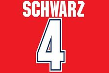 Schwarz #4 Arsenal 1995-1996 Home Football Nameset for shirt