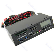 USB 3.0 All-in-1 5.25 Muiti-function Media Dashboard Front Panel Card Reader