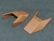 Lego Windscreen Slope Wedge 6x4x1&1/3 [6152] - Brown Reddish x2