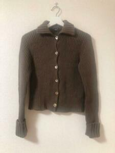 Margaret Howell VGC Womens Knit Thick Collared Cardigan Brown Kahki Size2 #M2986