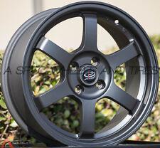 BLACK 16X7 +40 ROTA GRID 4X100 WHEEL FIT CIVIC MIATA INTEGRA MINI COOPER S XB XA