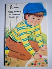 "VINTAGE ""8 TODAY HAPPY BIRTHDAY TO SOMEONE REALLY NICE"" GREETING CARD by Bozart"