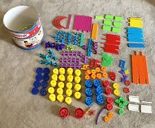 Playskool Tinker Toys Plastic Lot Of over 300 pieces. Plastic and rubber pieces