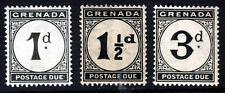 GRENADA 1921-22 POSTAGE DUES Wmk Mult Script CA SG D11, SG D12 & SG D14 MINT