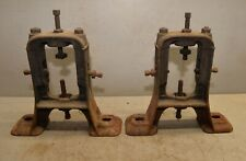 Cast iron industrial line shaft repurpose legs table machine age collectible lot