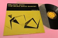 Miles Davis LP Relaxin Orig US 1958 NM Grooved Label Laminated Cover Top Jazz