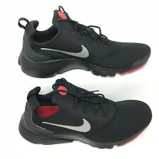 Nike 908019-006 Mens Presto Fly Black Red Silver Mesh Running Shoes Size 13