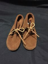 Minnetonka Childrens 2482 Brown Suede Softsole Classic Fringed Boot Size 1