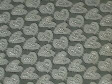 Pink hearts lace fabric stretch mesh material 2w 63 Wide by the yard Valentines