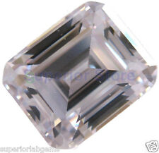 8.0 x 10 mm 3.80  ct EMERALD Cut Sim Diamond, Lab Diamond WITH LIFETIME WARRANTY