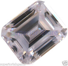 8.0 x 10 mm 3.80  ct EMERALD Cut Sim Diamond, Lab Diamond WITH LIFETIME WARRANTY