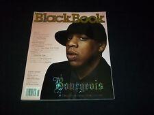 2004 SPRING BLACKBOOK MAGAZINE - JAY-Z - BOURGEOIS - HIGH FASHION - F 2439