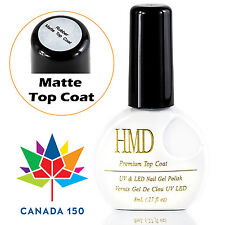 Canada 150 HMD Soak Off UV LED Gel Nails Polish matte top coat no wipe fast cure