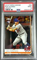 2019 Topps Chrome Pete Alonso Rookie Update New York Mets #86 PSA 9 Mint ASG