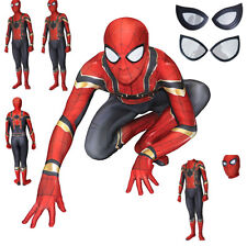 Spiderman Gold Carnival Costume Animation Man Child Cosplay costume SPM007