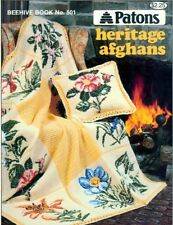 Knitting Crochet PATTERNS Afghans Aran Provincial Flowers Bird of Paradise