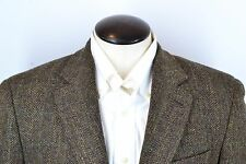 Lauren Ralph Lauren Brown Herringbone Tweed Leather Elbow Sport Coat Sz 42R EUC