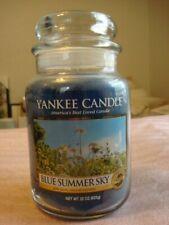 YANKEE CANDLE BLUE SUMMER SKY  JAR  CANDLE  22OZ   ~NEW~