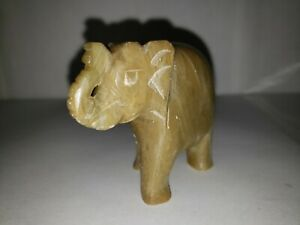 Vintage Hand Carved Stone Elephant