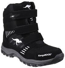 Kangaroos Negro Plata Barry-Zapato Alto II para niños UK1 EU33 JS22 55