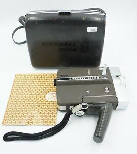 Nikon Nikkorex Zoom 8 8mm Movie Camera w/ Case Book Filter Reels  AS-IS #623