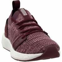 Puma Nrgy Neko Engineer Knit  Casual Running  Shoes Burgundy Womens - Size 9.5 B