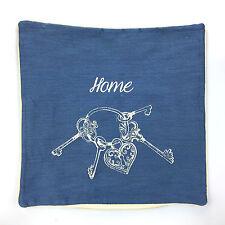 "x4 New High Quality THICK Cushion Covers FABRIC HOME KEYS 18"" x 18"" NAVY"