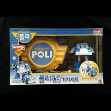 Robocar Poli DELUXE POLI & BASE CAMP GARAGE PLAY SET Transforming Figure Toy New