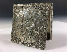 Schatulle Pillendose 800 Silber Engel mit Putten teilweise vergoldet