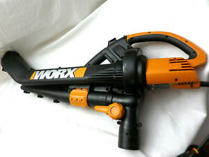 Worx Corded Electric WG500 Trivac Collection 3-in-1 Blower Mulcher Vacuum w/Bag