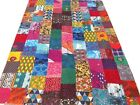 Quilt+Indian+Patchwork+Twin+Kantha+Bedspread+Cotton+Blanket+Block+printed+Boho+T