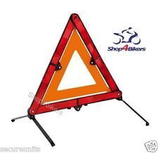 Motorcycle triangle touring emergency warning High vis EC EN approved compact