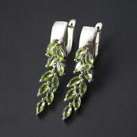 Olive color change diaspore 925 sterling silver dangle earrings for women gift
