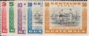 Guatemala,Scott#C158-C162,MH,