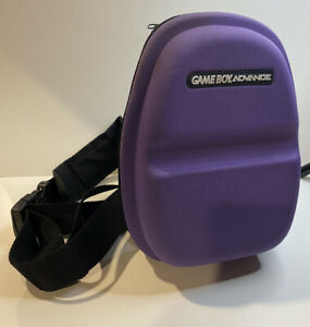 Nintendo Gameboy Advance Purple Travel Carrying Case with Shoulder Strap