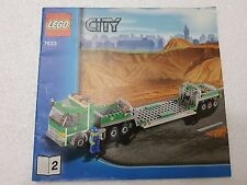 MANUALE ISTRUZIONI LEGO 7633 CITY TIR - ONLY MANUAL