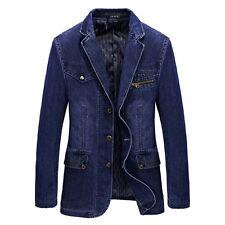 2017 New Spring Men's slim Jeans denim suits jacket Casual Blazer tops jacket