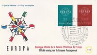 EU8) Belgium 1959 Europa Stamps On First Day Cover