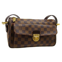 LOUIS VUITTON RAVELLO GM SHOULDER BAG VI0150 PURSE DAMIER EBENE N60006 R11913