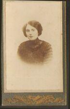 27 RICHEVILLE PHOTO CDV  MLLE SAUVAGE ODETTE INSTITUTRICE 1914 BOURG-ACHARD