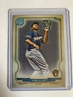 Lorenzo Cain Brewers 2020 Topps Gypsy Queen  SP Bazooka Back No.141 of 320
