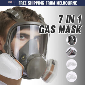 Gas Mask 7-in-1 Full Face Chemical Spray Painting Respirator Protect Vapour 6800