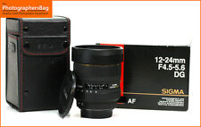 Sigma EX 12-24 mm F4.5-5.6 Dg Hsm Zoom Lente de enfoque manual solamente Canon Free UK Post
