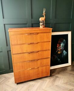 Mid Century Chest of drawers by Austinsuite. Teak drawers retro drawers